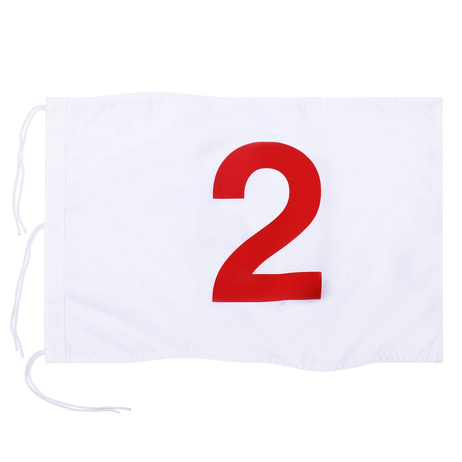 KINGTOP Numbered Golf Flag with Secure Strings, 13'' L x 20'' W, 420D Nylon, White 2 by KINGTOP