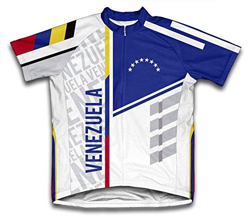 ScudoPro Venezuela Short Sleeve Cycling Jersey for Men - Size L ()
