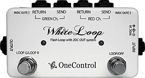 Amp Switcher Pedal Guitar (One Control White Loop Flash Switcher Pedal)