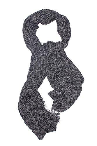 Men Oversized Scarf Wrap Stole Soft Shawl Fall Scarves Versatile Mens Accessories (black, white)