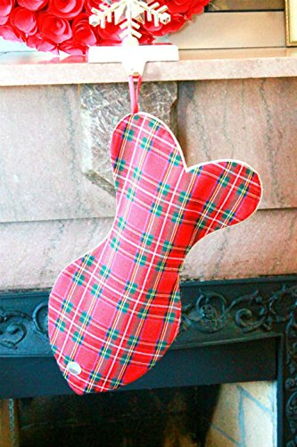 Christmas Stockings for cats, Unique Plaid Cat Christmas stocking, Colorful! Made with Love! by Lovlinne_Designs (Image #1)