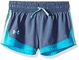 Under Armour Girls' Sprint Shorts, Academy Light Heathe (409)/Venetian Blue, Youth Small