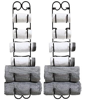 DecoBros Wall Mount Multi-Purpose Towel/Wine/Hat Rack,Bronze