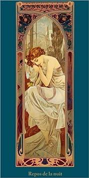Posterlounge Alu Dibond 20 x 40 cm: Repos de la Nuit di Alfons Mucha
