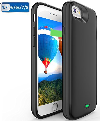 5500mAh iPhone 6/6S/7/8 Battery case, Vproof Portable Charger Charging Case Rechargeable External Battery Pack Protective Cover for Apple iPhone 6/6S/7/8 (4.7 Inch) (Black)