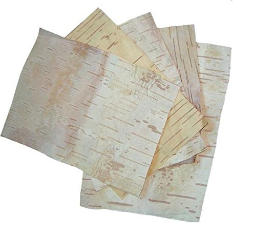 BHOJPATRA BARK SHEETS Betula Utilis HIMALAYAN BIRCH - 4 Sheets
