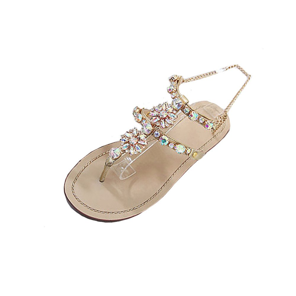 Vovotrade® Femmes Fashion Womens Fashion Casual 17221 Summer Flat Strass Vovotrade® Shining Rhinestones Chain Chaîne Sandales T-Sangle Confortable Chaussures EU: 35-46 gold a324d20 - automatisms.space