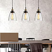 Ting-w Industrial Metal Edison LED Antique Glass 1-light Pendant Hanging Light
