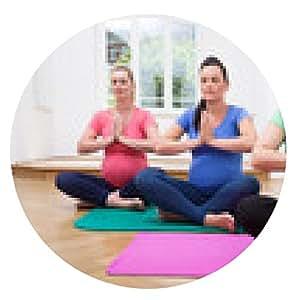alfombrilla de ratón Clase de yoga embarazo embarazada - ronda - 20cm
