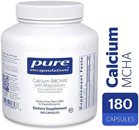 Pure Encapsulations - Calcium MCHA with Magnesium - Hypoallergenic Dietary Supplement for Bone Support* - 180 Capsules