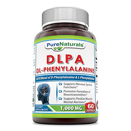 Pure Naturals DLPA (DL-Phenylalanine), 1000 mg, 60 Capsules -Supports Nervous System Functions, Positive Mood & Mental Alertness -Promotes Formation of Neurotransmitters by Pure Naturals