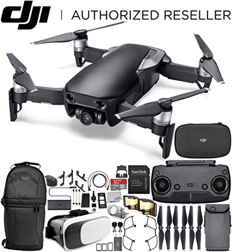 DJI Mavic Air Drone Quadcopter (Onyx Black) Starters Bundle