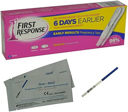1 x First Response Pregnancy Test (2 Tests) and 2 x Ultra Early 10mIU Pregnancy Test Strips (OLD STYLE)
