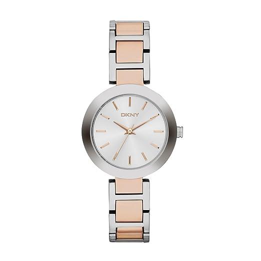 DKNY Reloj analogico para Mujer de Cuarzo con Correa en Acero Inoxidable NY2402: Dkny: Amazon.es: Relojes