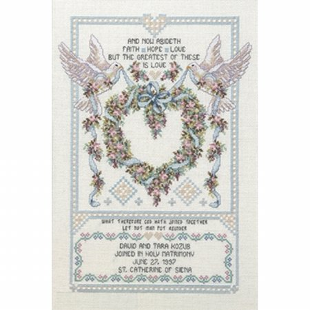- Janlynn 80-0438 Platinum Collection Wedding Doves Counted Cross Stitch Kit-12X17 14 Count