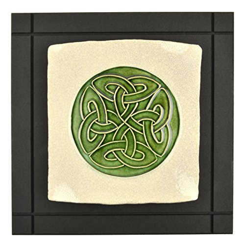 Wild Rose Pottery CP4 Lovers' Knot Celtic Art Tile - Anniversary Keepsake Tile
