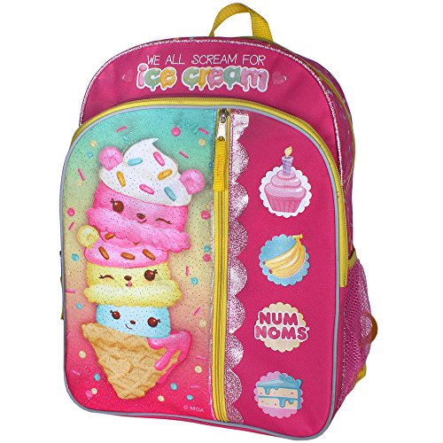 Num Noms Ice Scream 16 inch Backpack with Side Mesh Pockets Backpackfor Girls