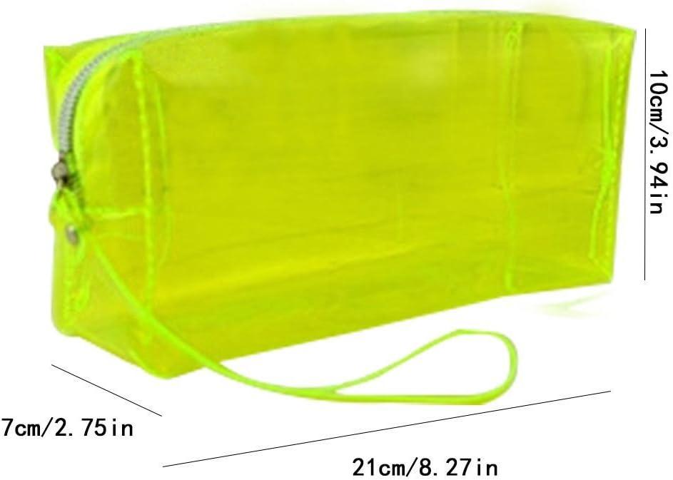 Estuche bolsa, biback Gran Capacidad Candy Color Transparente estuche para hombres y mujeres Student schreibwaren Caja schreibwaren Bolsa, color Farbe Gelb: Amazon.es: Oficina y papelería