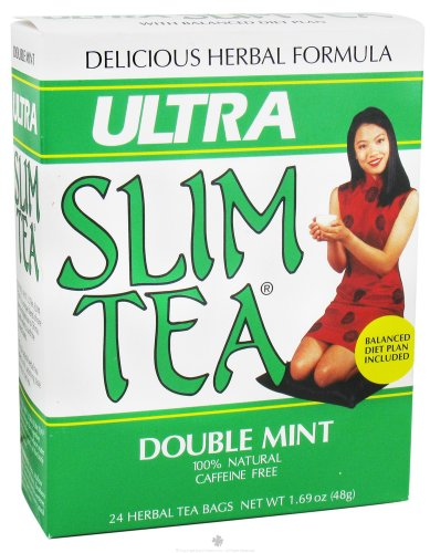 Ultra Slim Tea, Double Mint, Tea Bags, 24 Count Box 1