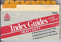 AVERY HEAVY DUTY INDEX GUIDES- ALPHABETICAL A-Z 3\