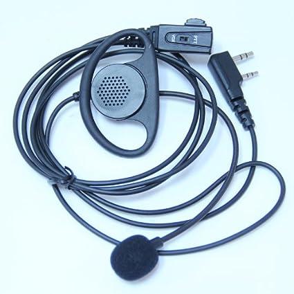 fe9fd33294a6b PRO D Shape Earpiece Headset PTT/VOX Boom Mic for Hytera TC-268 268S 270  270S 368 368S 370 370S Two Way Radio 2pin