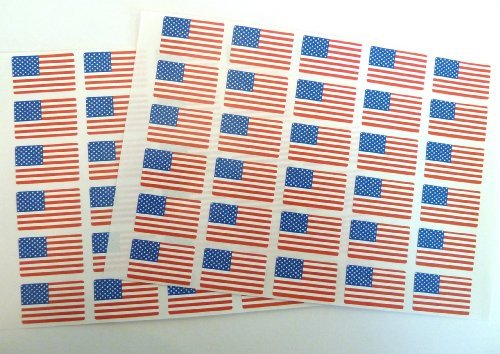 Minilabel Pack Of 60 , 33X20mm , Usa Self-Stick Flag Stickers Self-Adhesive United States Of America Flag Labels