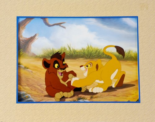 (1999 - Disney's - The Lion King II : Simba's Pride - Exclusive Commemorative Lithograph - Stamped The Disney Store - 11x14 Inch - Matted - New - Rare - Mint - Collectible)