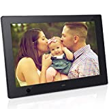 Digital Photo Frame 10 inch IPS Display Electronic Picture Frame with Motion Sensor 1080P HD LCD Display, Video Player/ MP3/ Calendar/Zoom in & Rotate Pictures/Remote Control [Jimwey]