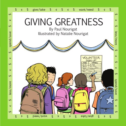 Giving Greatness (Marvels Of Money for kids Book 3)