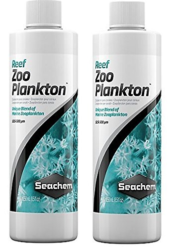 (2 Pack) Seachem Reef Zooplankton, 500 mL / 17 fl. oz.