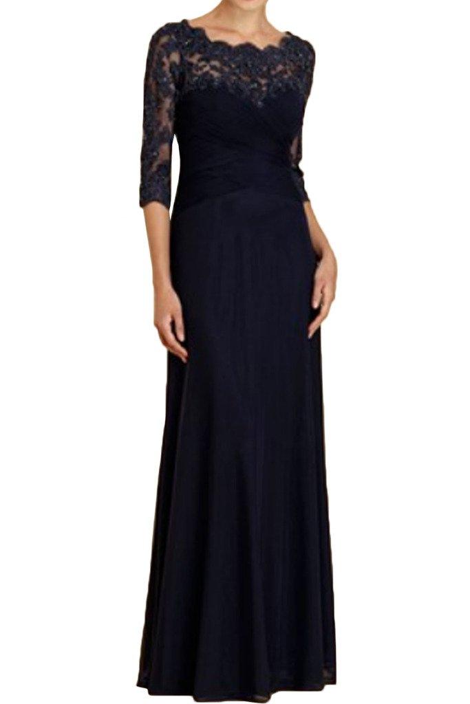 (ウィーン ブライド) Vienna Bride 披露宴用母親ドレス ロングドレス 結婚式母親用ドレス 半袖 レース フォーマルイブニングパーティー 8色 ウエディングパーティー B01N9HR951 9|ブラックB ブラックB 9