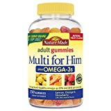 Nature Made Multi for Him + Omega-3 Adult Gummies w. 60 mg of EPA and DHA Omega-3 150 Ct For Sale