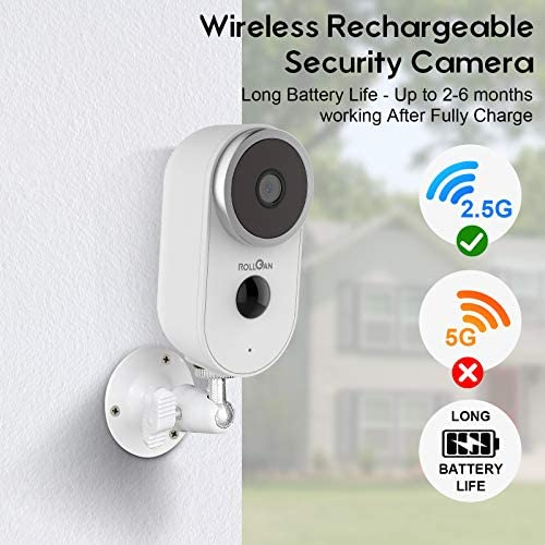 SECURITY HOME CAMERA OUTDOOR WIRELESS, RECHARGEABLE BATTERY POWERED 1080P HD WIRE-FREE SMART SURVEILLANCE WIFI IP CAMERAS FOR PET CAT DOG
