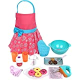 """Click N' Play CNP0255 Doll Baking Set with Apron and Chef Hat, Perfect for 18"""" American Girl Dolls"""
