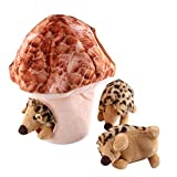 IFOYO Squeak Dog Toys, Large Durable Hedgehog Hide and Seek Puzzle...