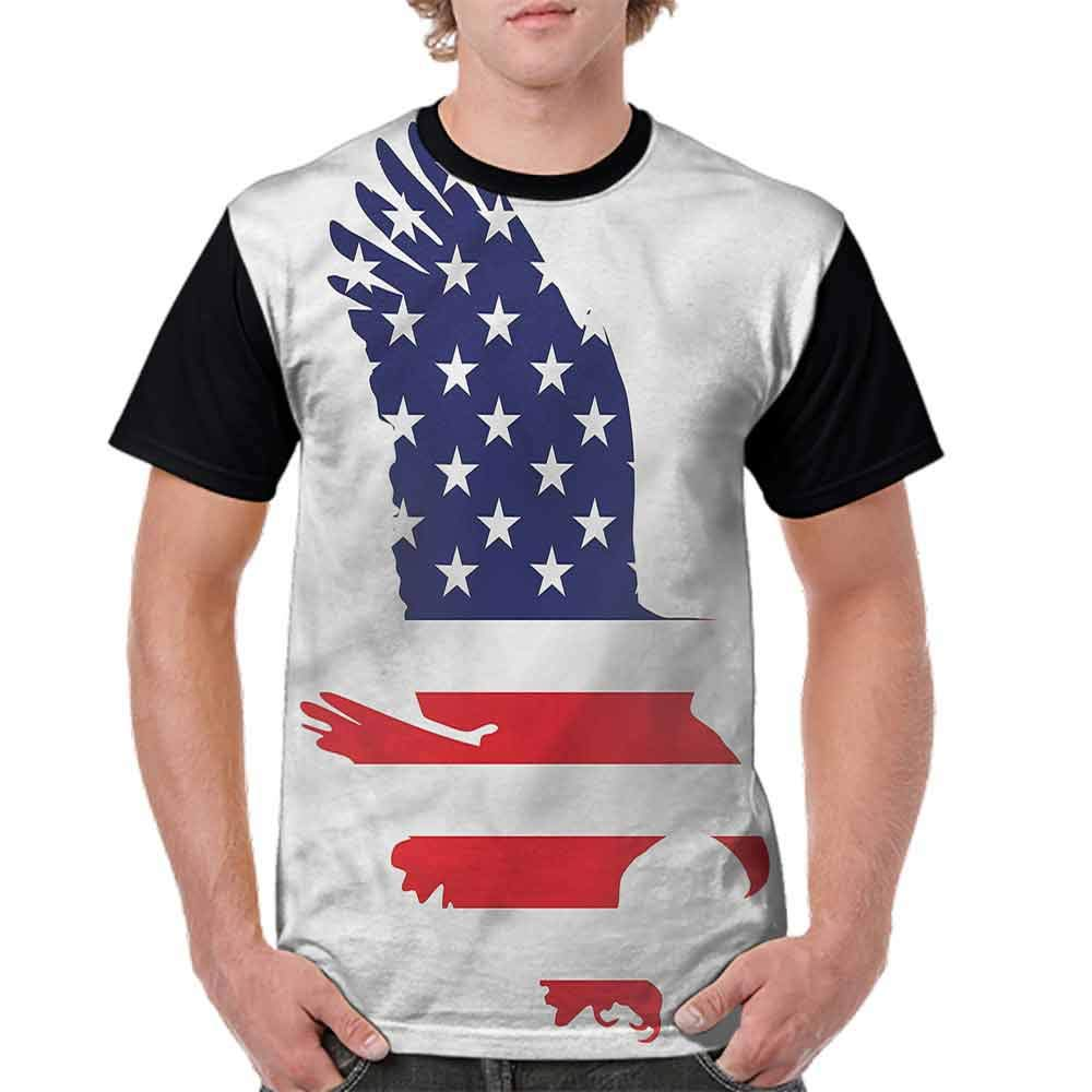 Cotton T-Shirt,Bald Eagle Solidarity Fashion Personality Customization
