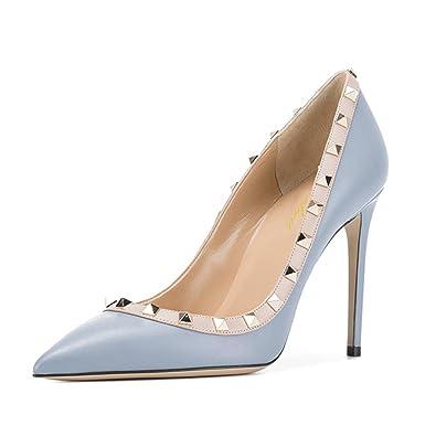 Lutalica Damen Spitze Nieten Besetzt Elegant Stilettos High Heel Studded Kleid Pumps Schuhe