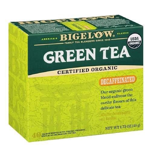 Bigelow Organic Decaffeinated Green Tea 40 bags (Pack Of 2)