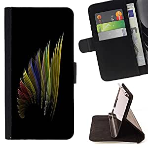 BETTY - FOR Samsung Galaxy S5 Mini, SM-G800 - cool art wing color design pattern rainbow - Style PU Leather Case Wallet Flip Stand Flap Closure Cover