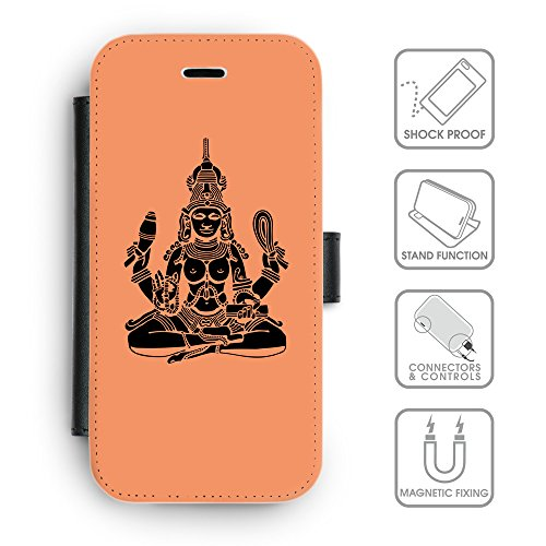 Flip PU Leather Wallet Case avec des fentes de carte de crédit // Q08130607 Hindou 4 Mandarine // apple iPhone 6s 2015