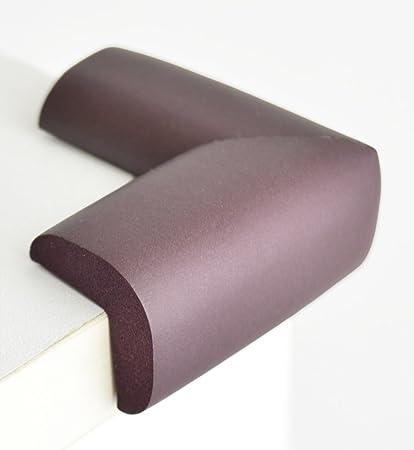 4 x Protector Esquina Mesa Mueble Antigolpes Seguridad para Ni/ños Beb/é Marr/ón