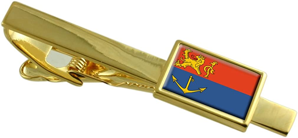 Venlo City Netherlands Flag Gold-tone Tie Clip Engraved Personalised