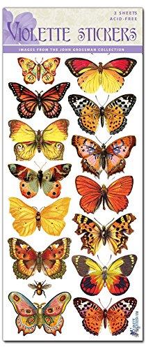 Violette Stickers Orange Butterflies