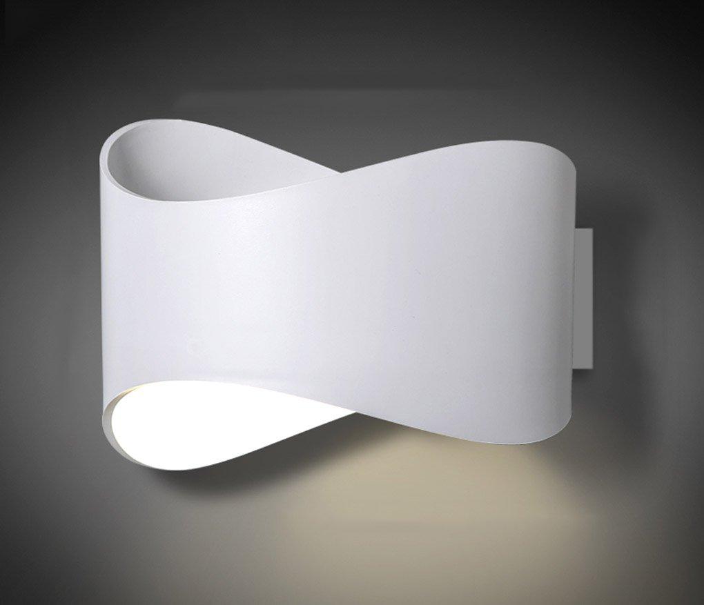 JCRNJSB® Spiegelfrontleuchten, Nachttischlampe Schlafzimmer Badezimmer Spotlight Spiegelfrontleuchte Einfache moderne Treppen Lichter Wandleuchte Gang Korridor Innenwandleuchte Drehbar, verstellbar, ( Farbe   Weiß )