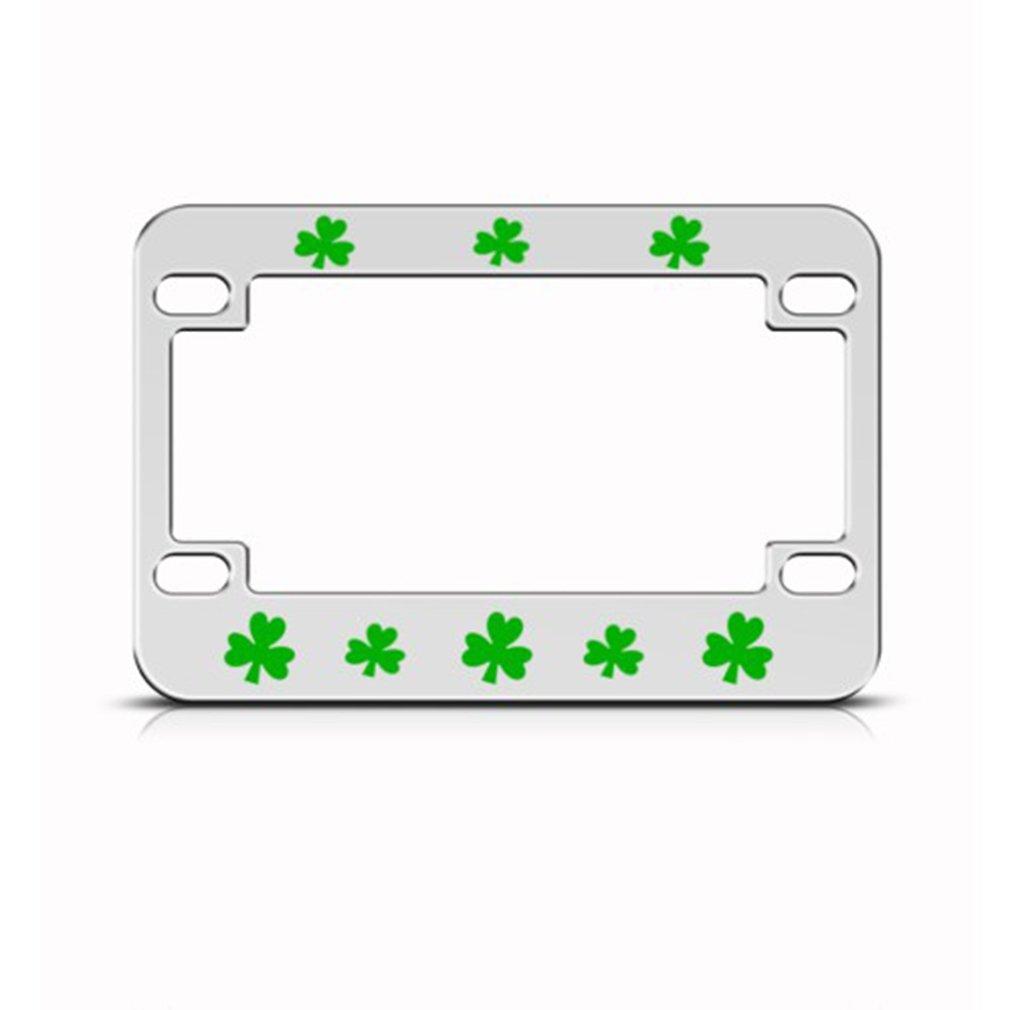 Irish Shamrock Green Motorcycle License Plate Frame