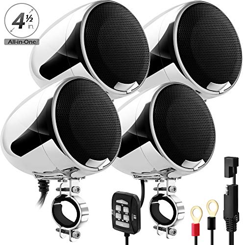 - GoHawk AN4-QX 1200W 4 Channel All-in-One Amplifier 4.5