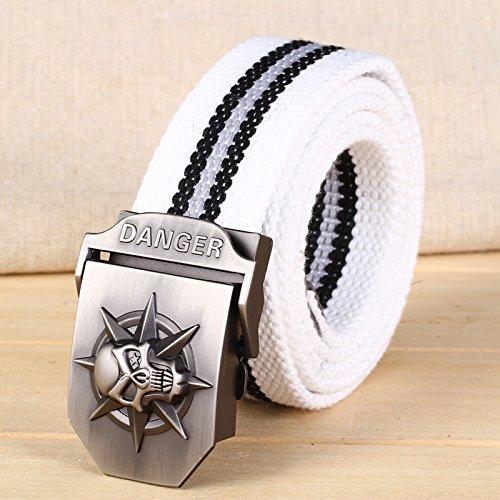 XINQING-PD Cinturón Hebilla de cinturon Cinturon de hebilla de correa de  lona de marea c73423e8f8f1