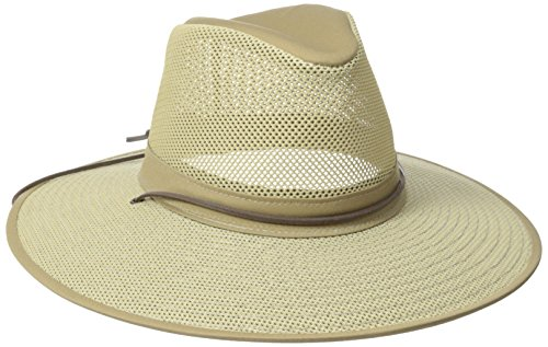 Henschel Crushable Soft Mesh Aussie Breezer Hat, Khaki, Small