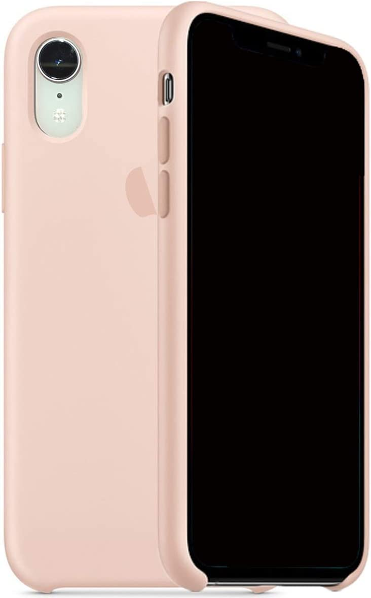 Kongwoo Silicone Case (Rubber Hard Cover) Compatible with iPhone XR (Pink Sand)