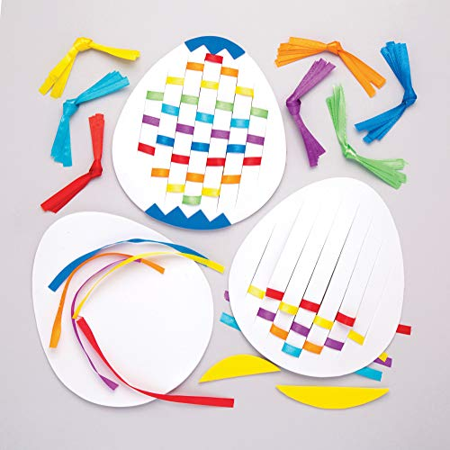 Baker Ross Easter Egg Weaving Kits (Pack of 6) Easter Crafts for Kids to Make and Display